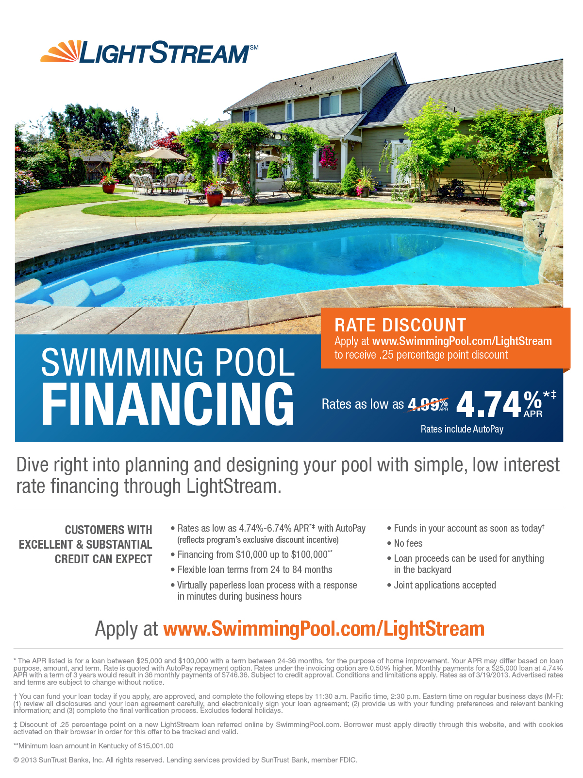 18 swimming pool loans interest rates decor23 for Pool financing